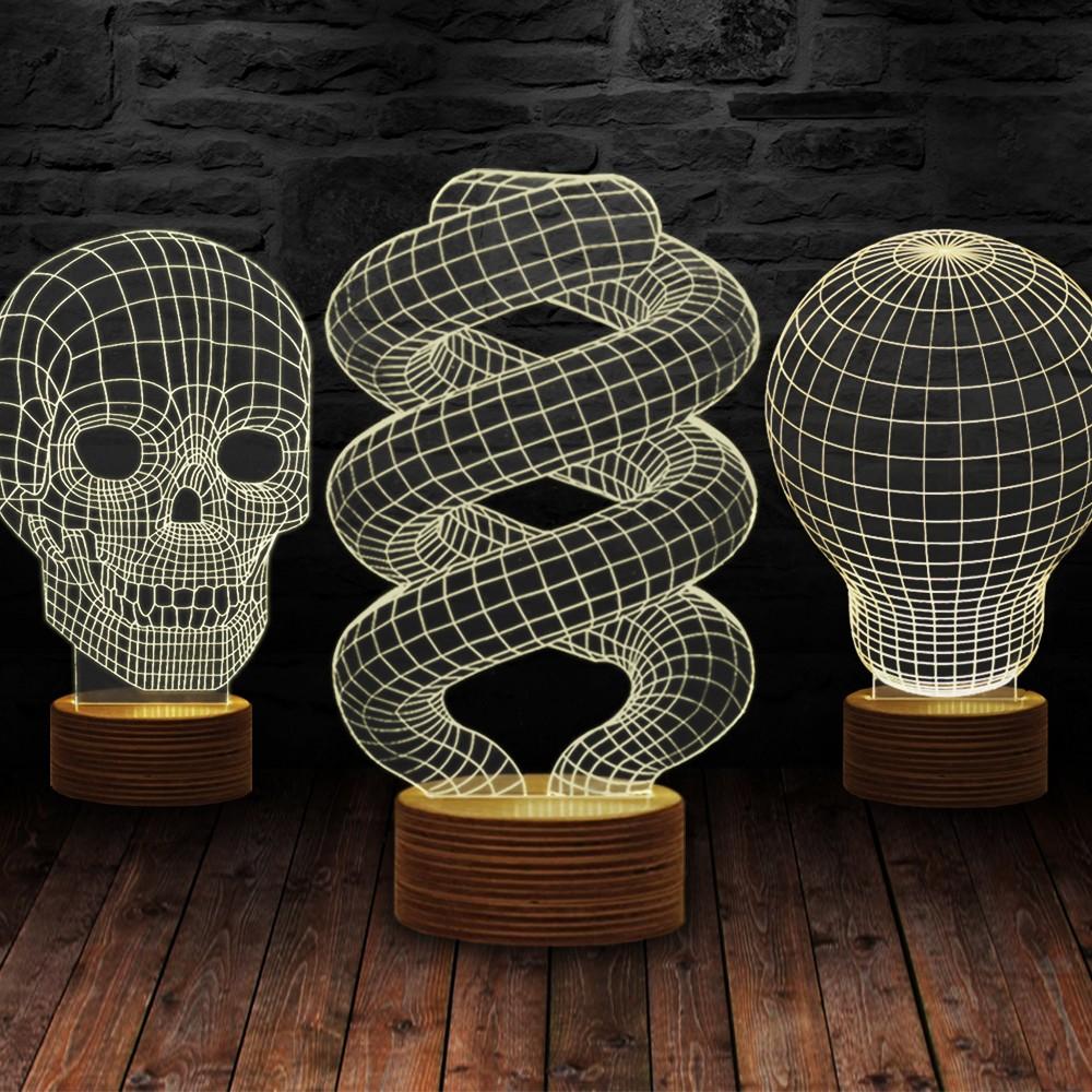 3d illusie lampen