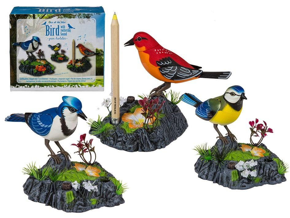Pennenhouder vogeltje