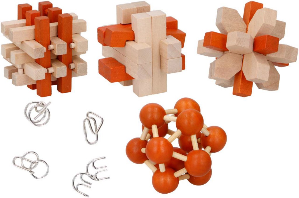 Puzzelset hout metaal