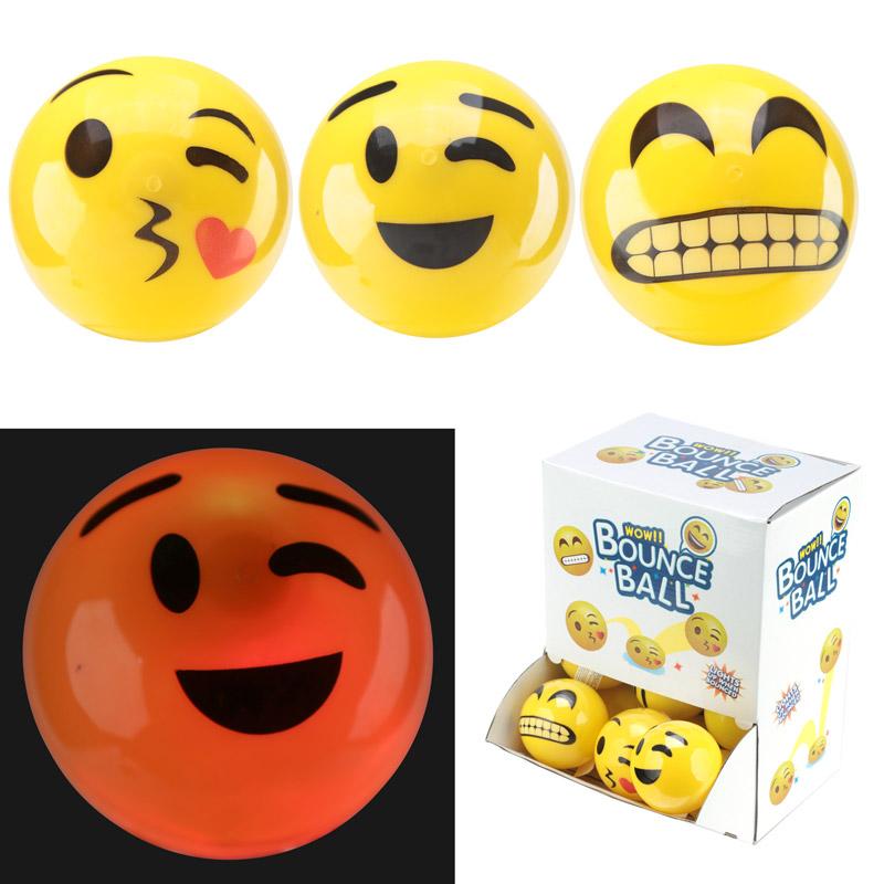 Smiley bal met licht