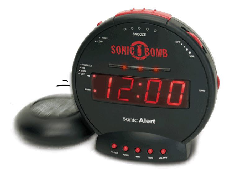 Sonic bomwekker alarmwekker met trilfunctie