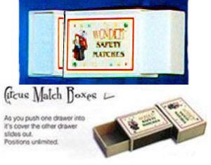 Circus matchbox