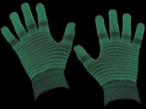 Glow in the dark handschoenen