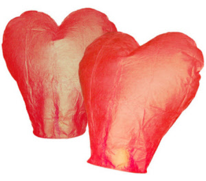 Wensballon ufoballon in hartvorm